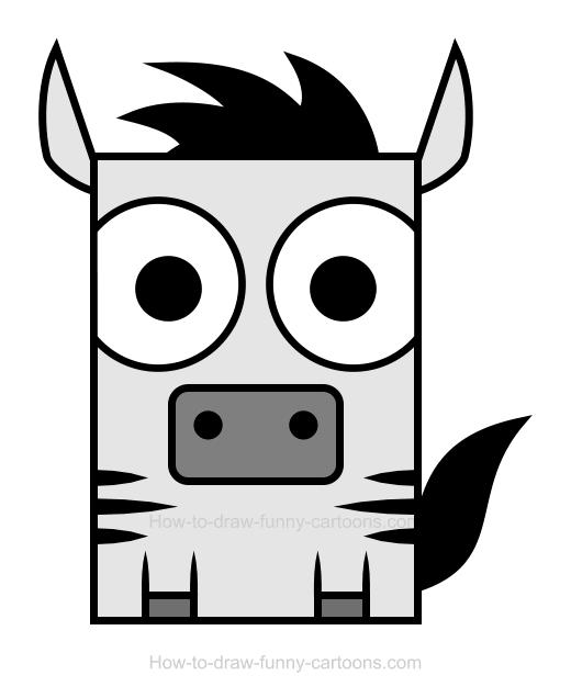 Clipart zebra sketch.