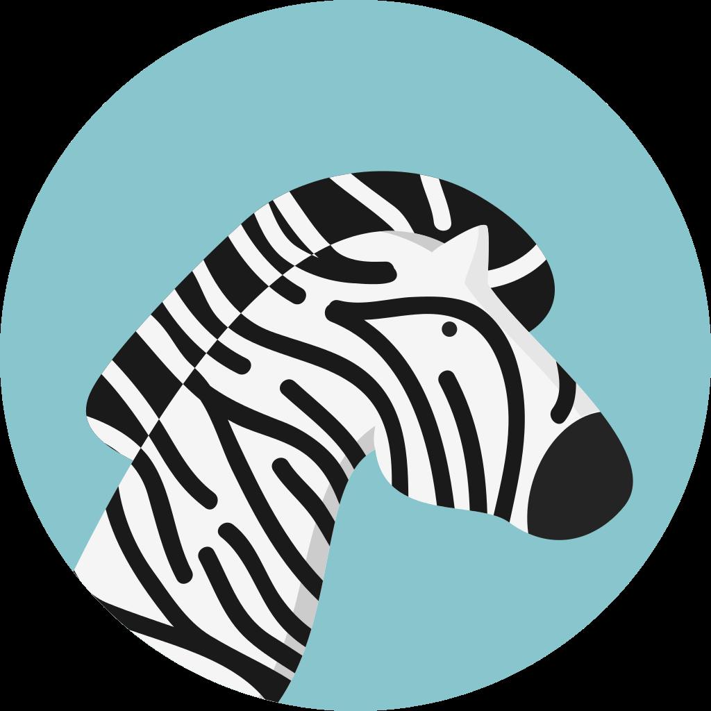 File creative tail animal. Clipart zebra svg