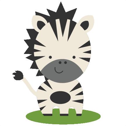 Clipart zebra svg. Scrapbook cut file cute