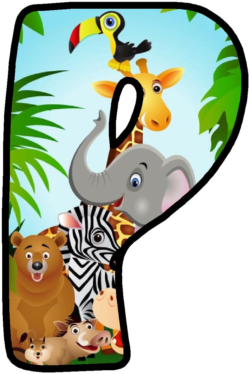 Panda alphabets safari . Clipart zebra theme jungle
