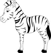 clipart zebra zebra african