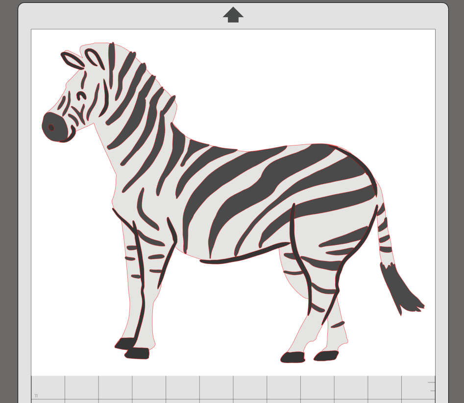 Clipart zebra zebra body. Magnetic puzzle