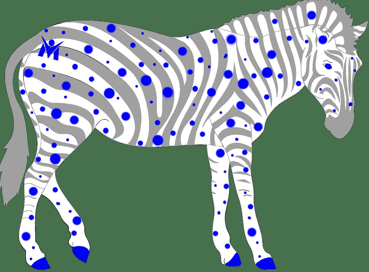 Clipart zebra zebra body. Sometimes zebras have spots