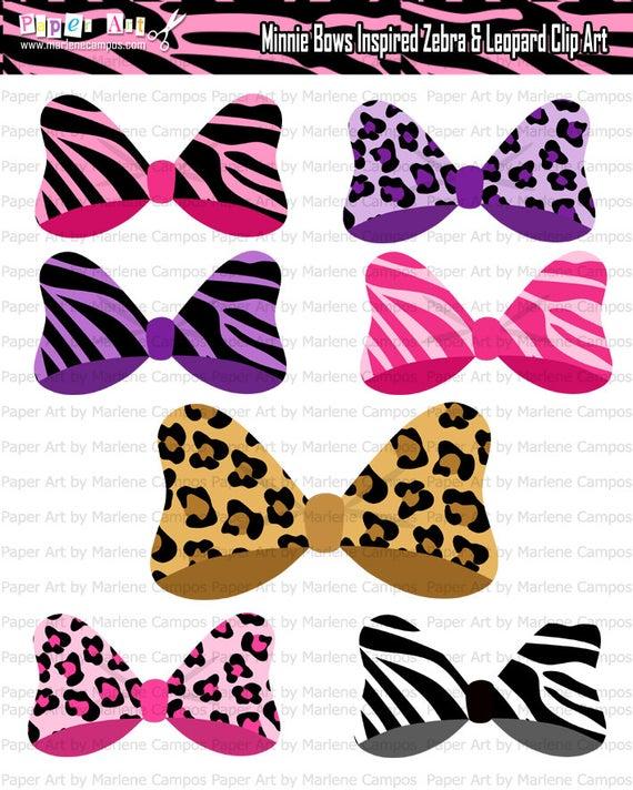 Animal print hair bows. Clipart zebra zebra bow