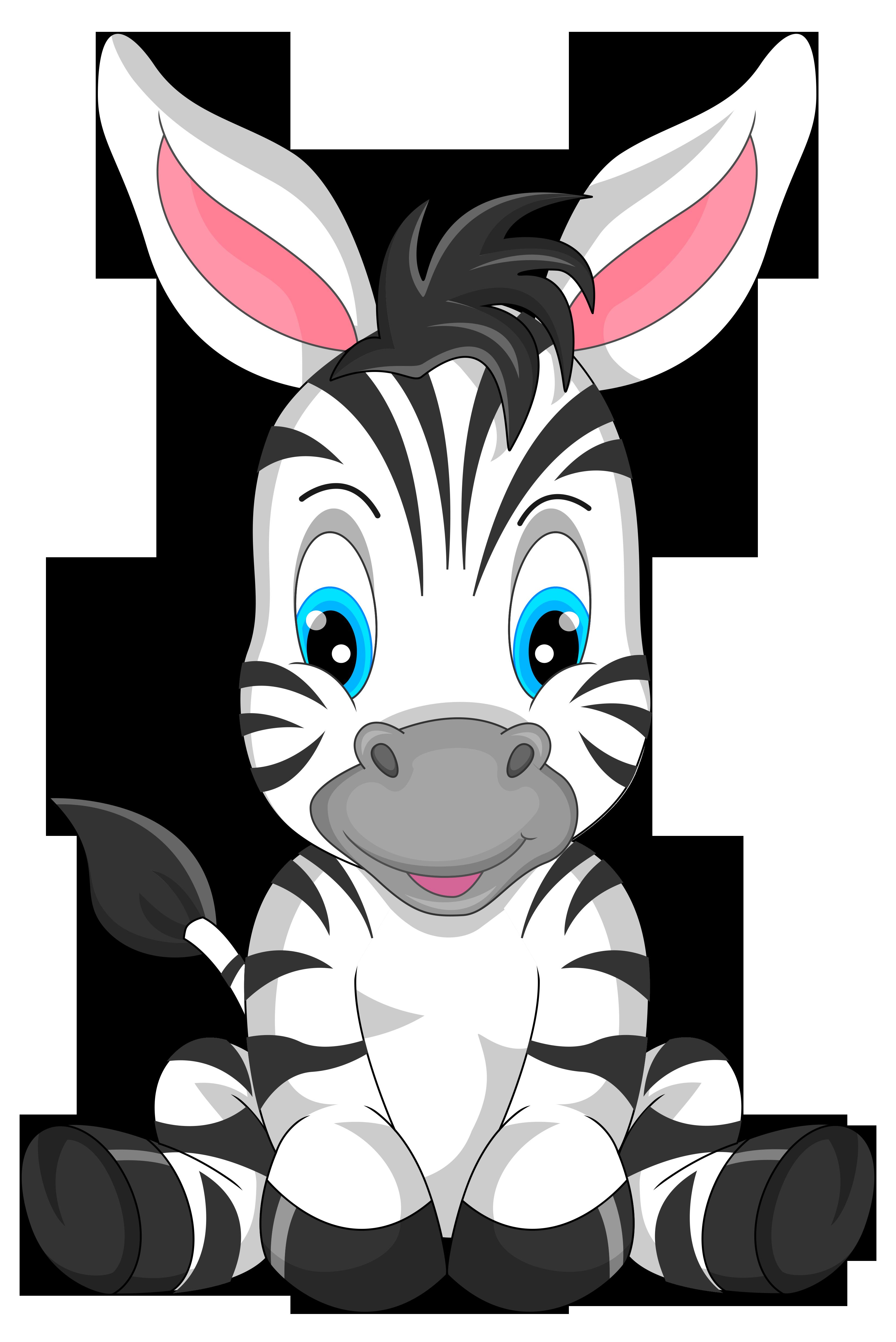 Cute cartoon png image. Clipart zebra zebra bow