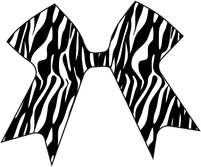 Decal cheer cases. Clipart zebra zebra bow
