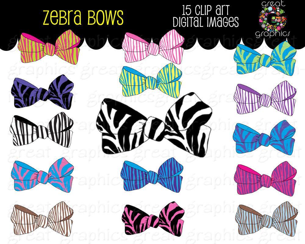Clipart zebra zebra bow. Clip art print digital