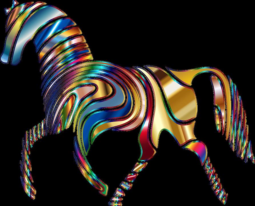 Free photo psychedelic animal. Clipart zebra zebra eating grass