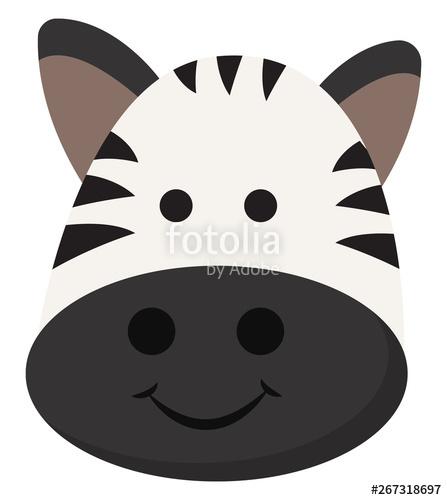 Clipart zebra zebra face. Emoji of the smiling