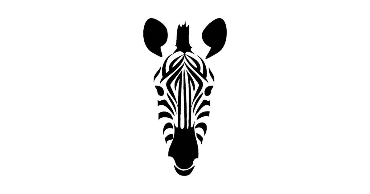 Black stripes art silhouette. Clipart zebra zebra face
