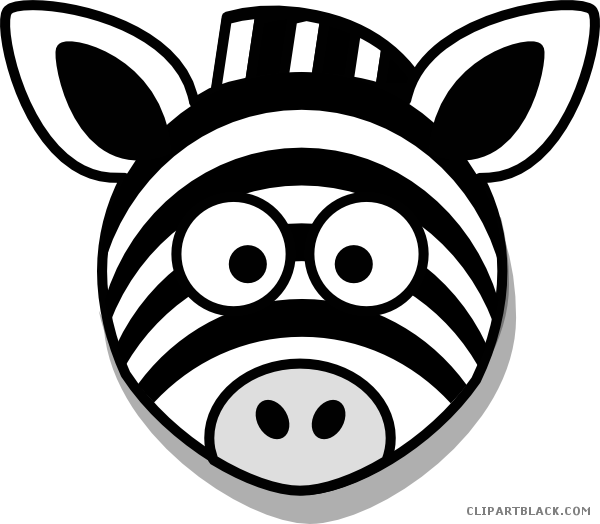 Head clipartblack com animal. Clipart zebra zebra outline