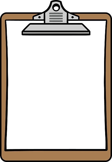 Letters. Clipboard clipart