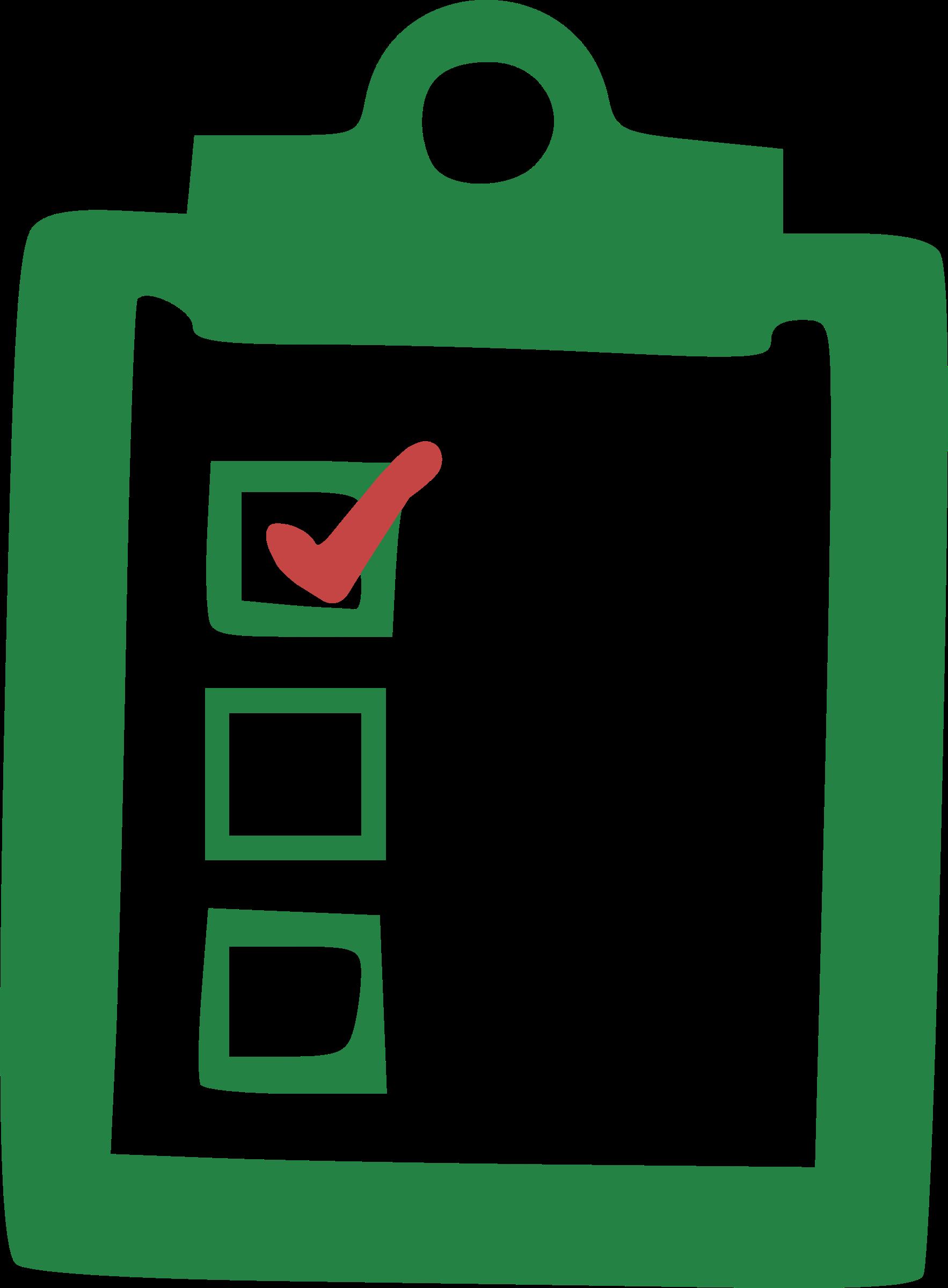 Clipboard clipart check mark. Checklist big image png