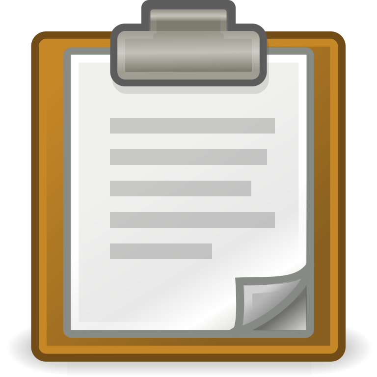 Clipboard clipart checksheet. File edit paste svg