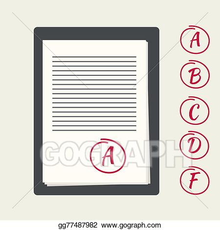 Eps vector with papers. Clipboard clipart exam