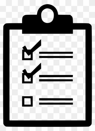 Verification of delivery list. Clipboard clipart exception