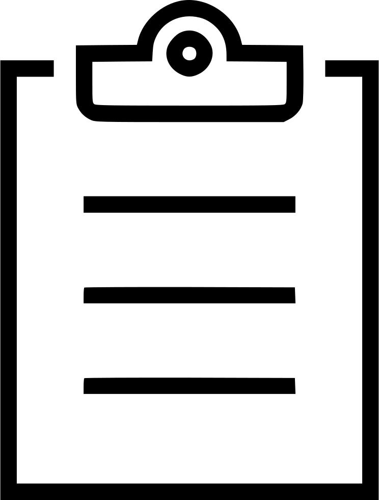 Clipboard clipart exception. Checklist list analyze todo