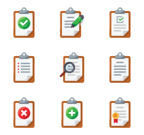 Clipboard clipart finished work. Icons free vector