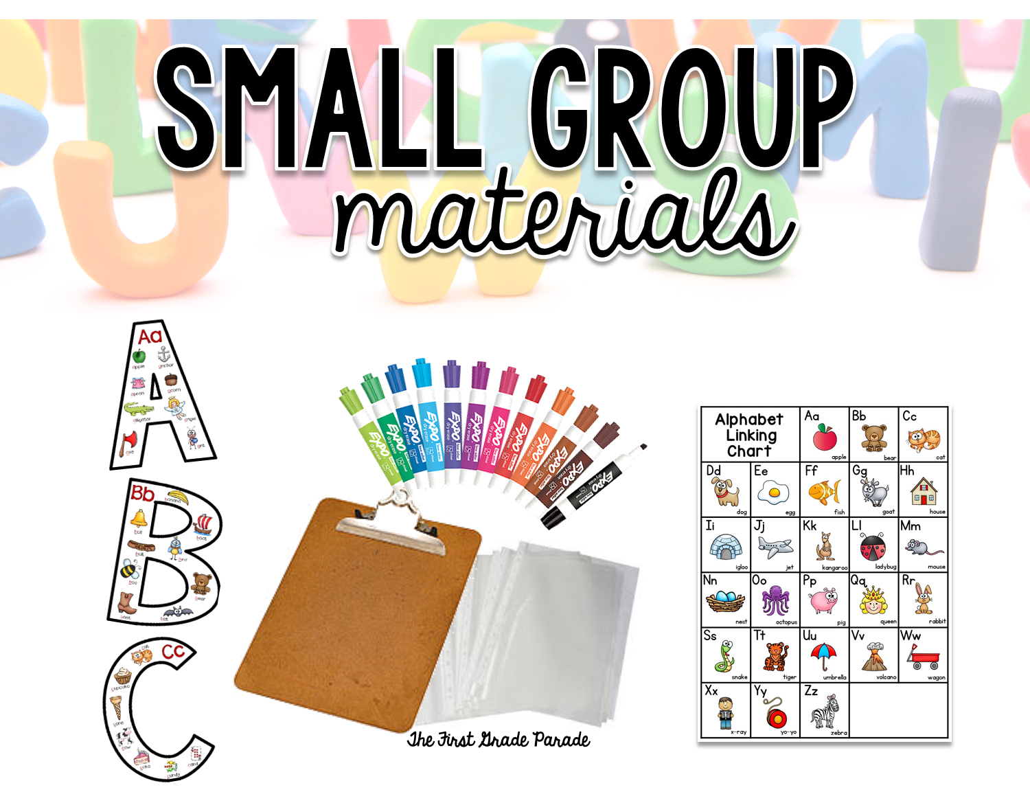 Clipboard clipart instruction. Small group alphabet the