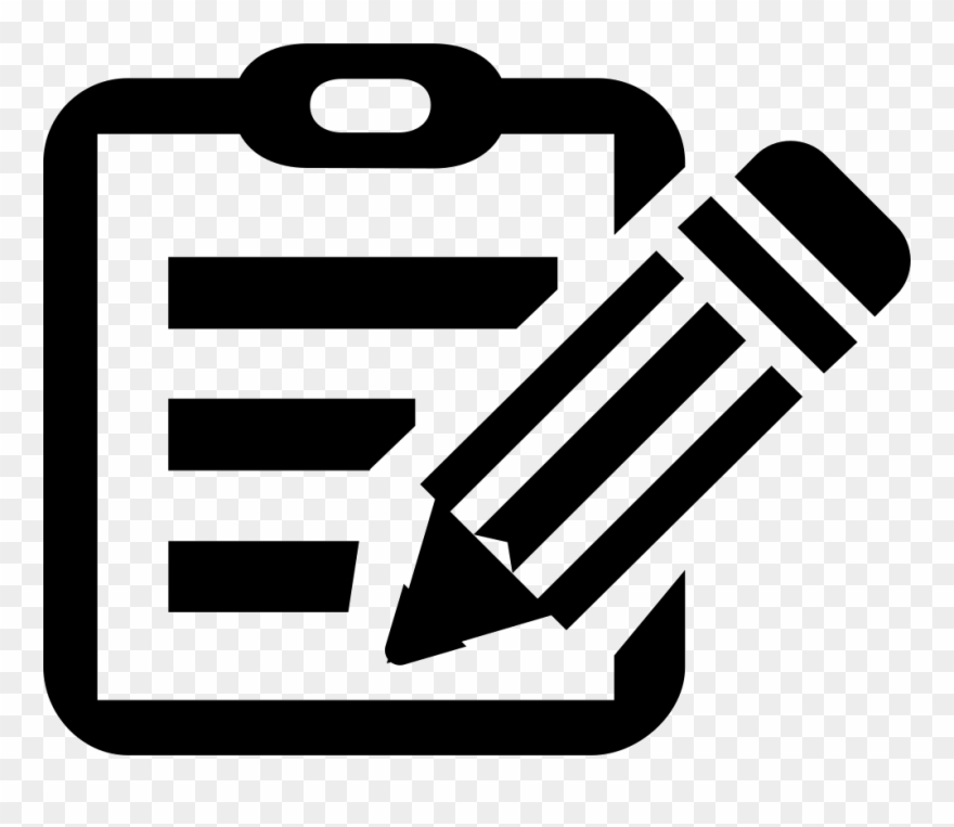 Clipboard clipart instruction. Manual filling comments edit