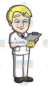 Clipboard clipart nurse clipboard. A male writing on