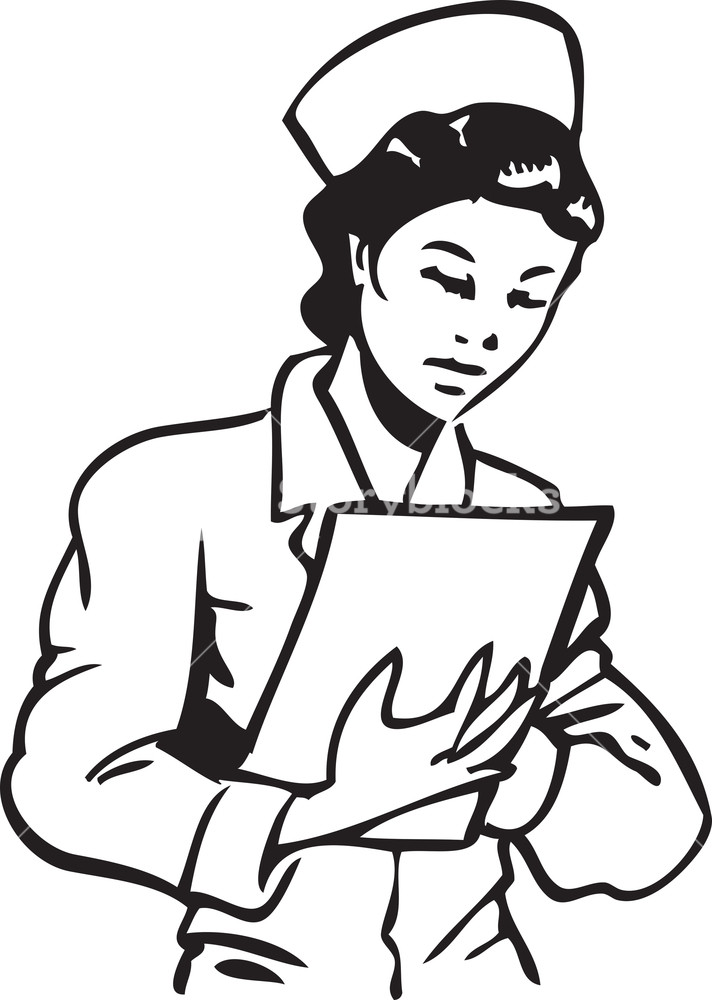 Clipboard clipart nurse clipboard. Illustration of a with