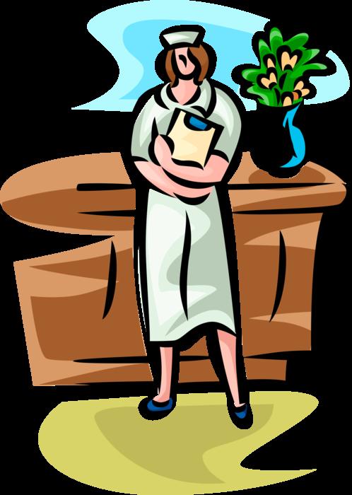 Clipboard clipart nursing clipboard. Nurse with vector image