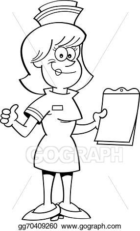 Clipboard clipart nursing clipboard. Vector art cartoon nurse