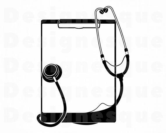 Clipboard clipart nursing clipboard. Nurse svg doctor stethoscope