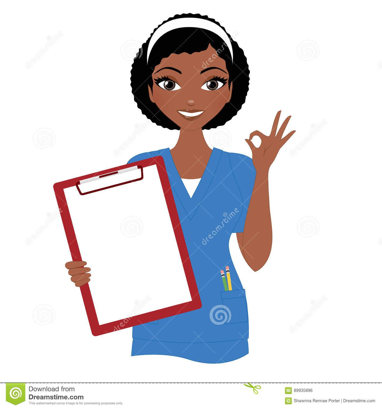 Nurse with portal . Clipboard clipart nursing clipboard