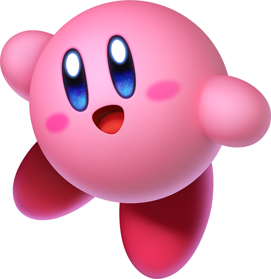 Kirby canon eficiente character. Windy clipart puff air