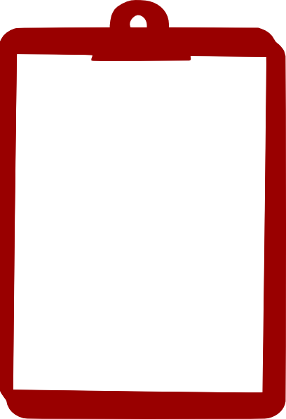 Clip art at clker. Clipboard clipart red