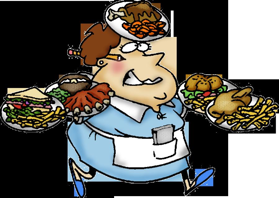 Cartoon stressed person desktop. Clipboard clipart restaurant