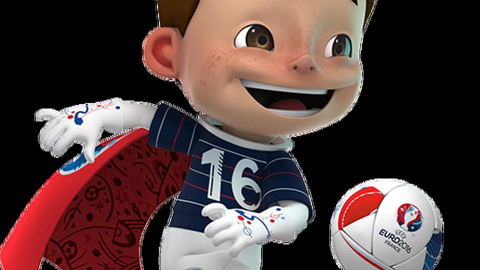 Euro s mascot found. Clipboard clipart soccer