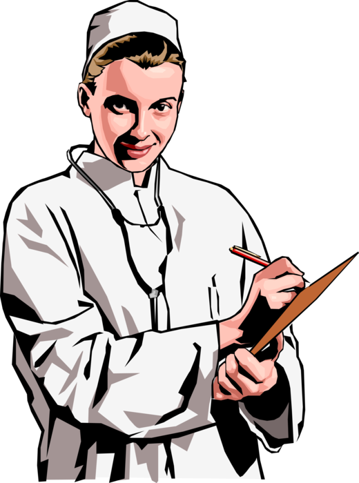 Doctor with and vector. Clipboard clipart stethoscope