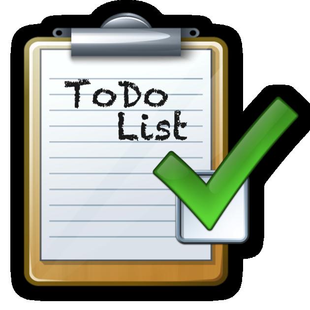 Clipboard clipart task. Alinof todolist on the