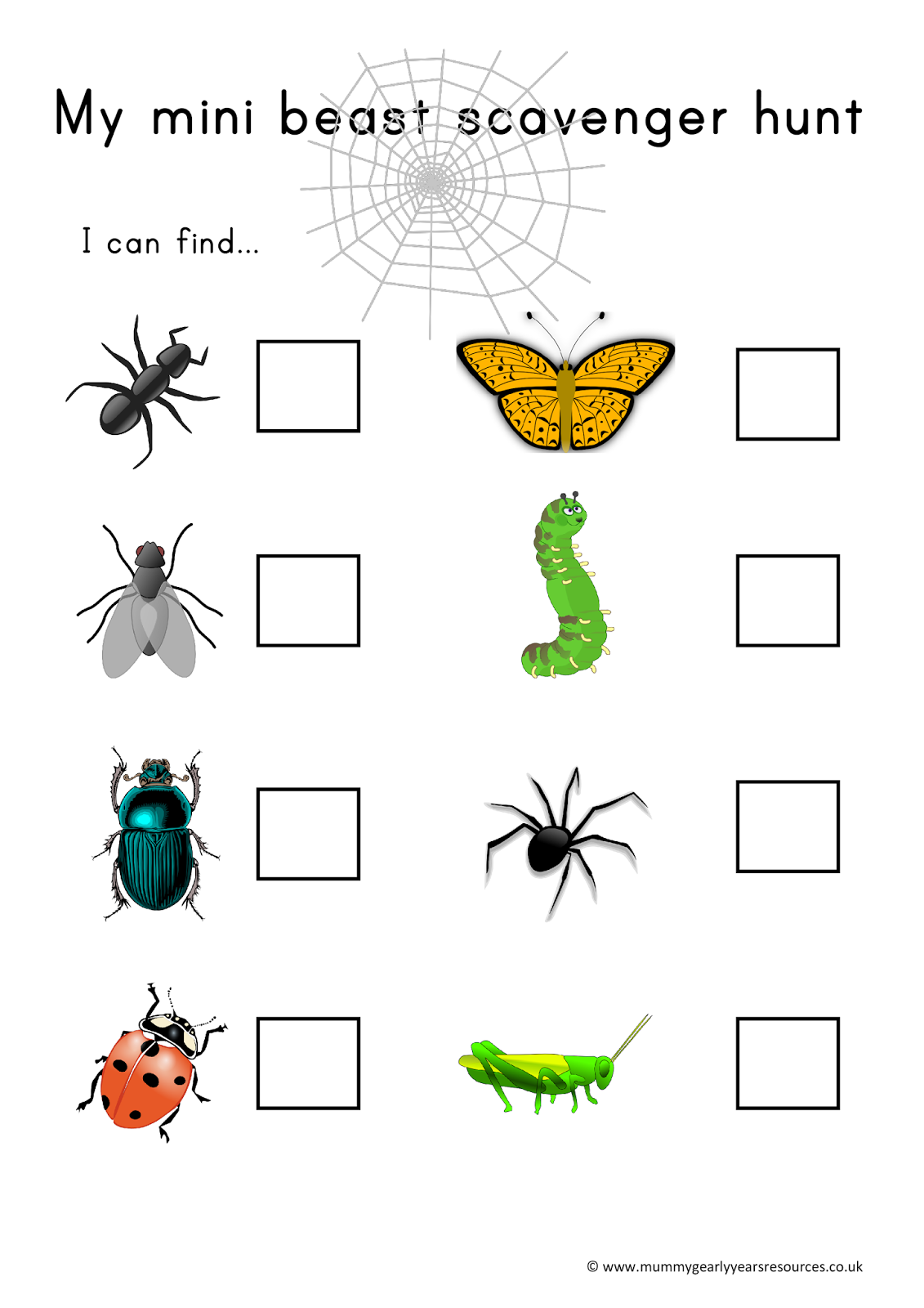 Insect clipart minibeast. Mummy g early years