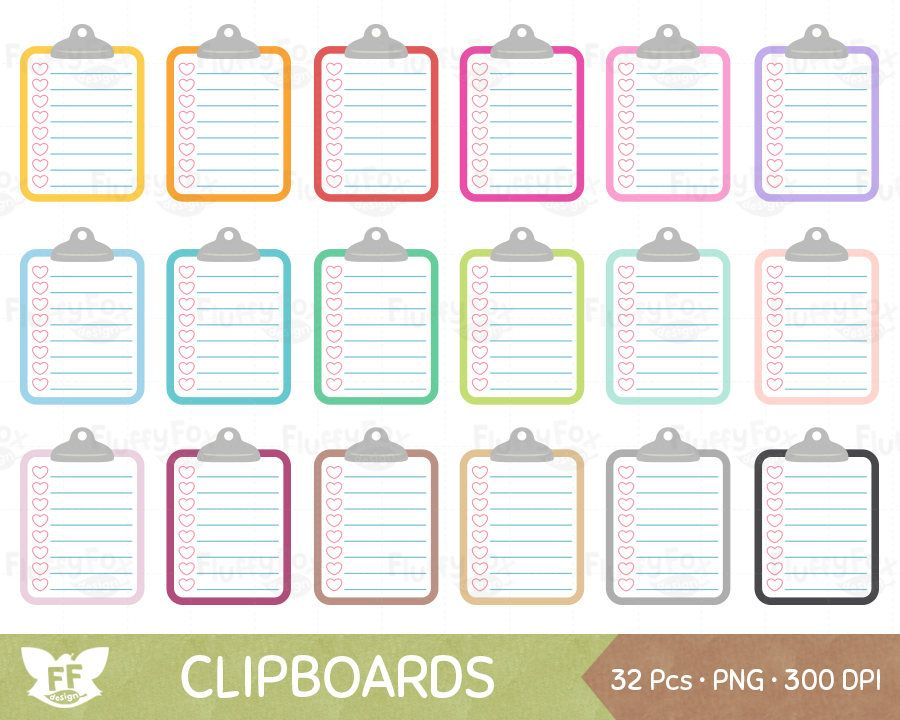 Clipboard clipart to do. Pin by fluffy fox