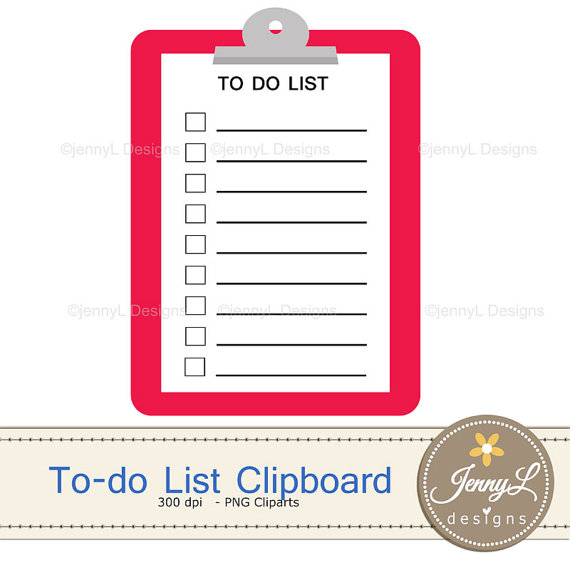 List for planners digital. Clipboard clipart to do