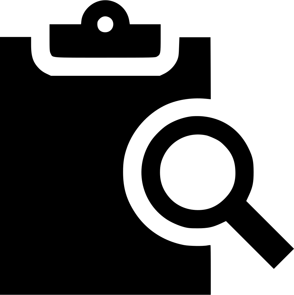 Analyze search svg png. Clipboard clipart waiver