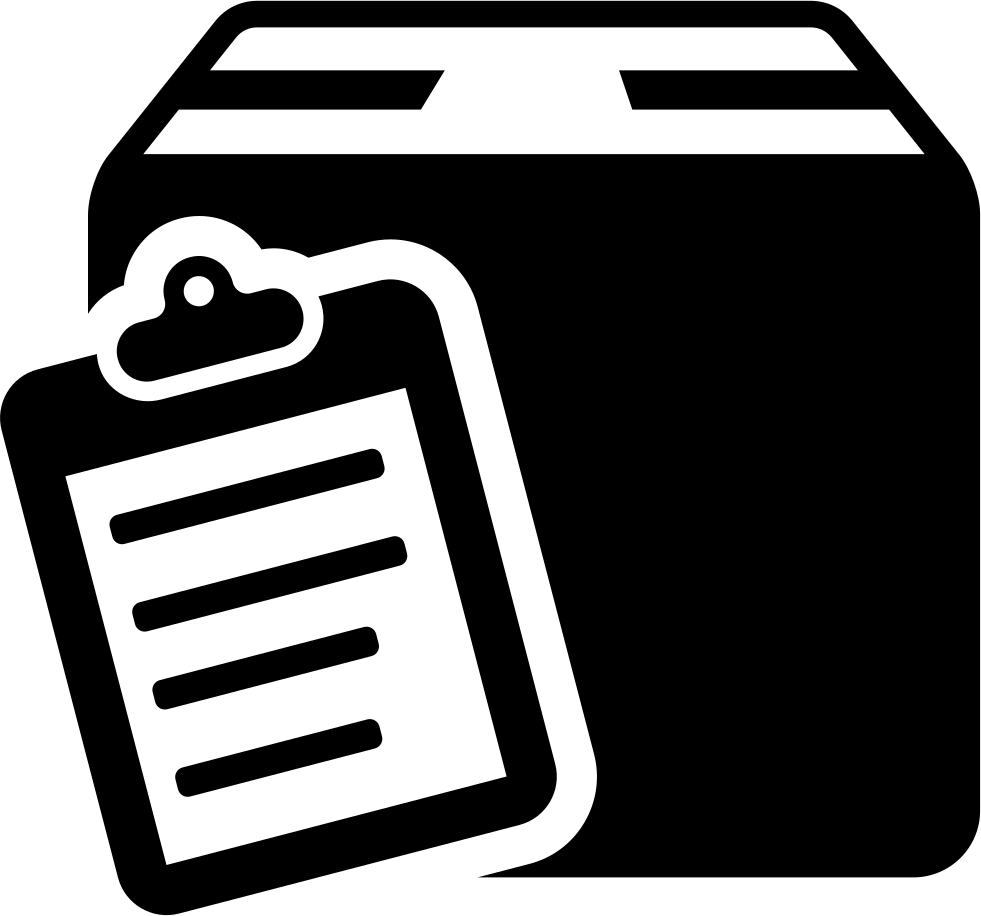 Commercial delivery symbol of. Clipboard clipart waiver