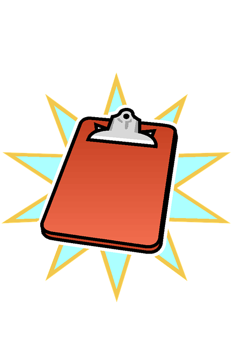 Free photo writing clipboard. Important clipart notice board