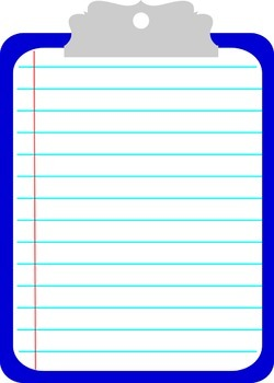 Clipboard clipart. By the teal paperclip