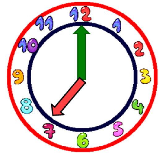 Clock clipart 7 o clock.  clip art library