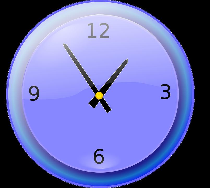 Wall shop of library. Clock clipart 7 o clock