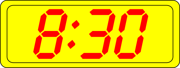 Clock clipart 8 am. Digital clip art at