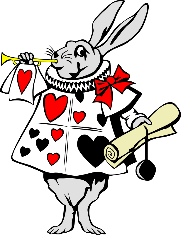 Free from psd files. Clock clipart alice in wonderland rabbit