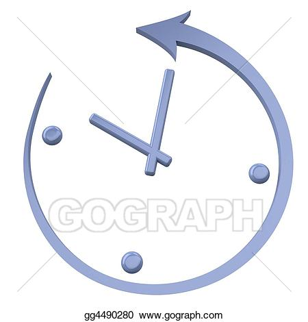Stock illustration turn the. Clocks clipart back