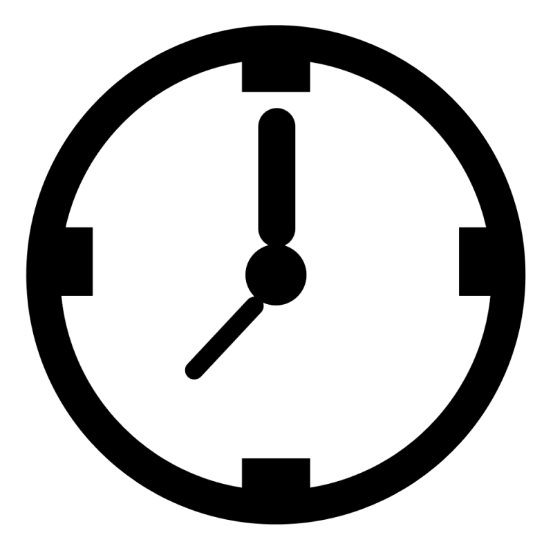 Hubpicture pin . Clock clipart black and white