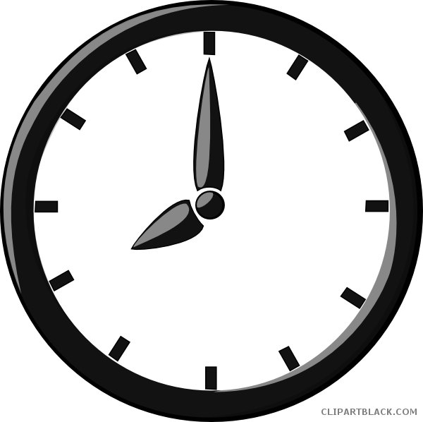 Quality page of clipartblack. Clock clipart black and white